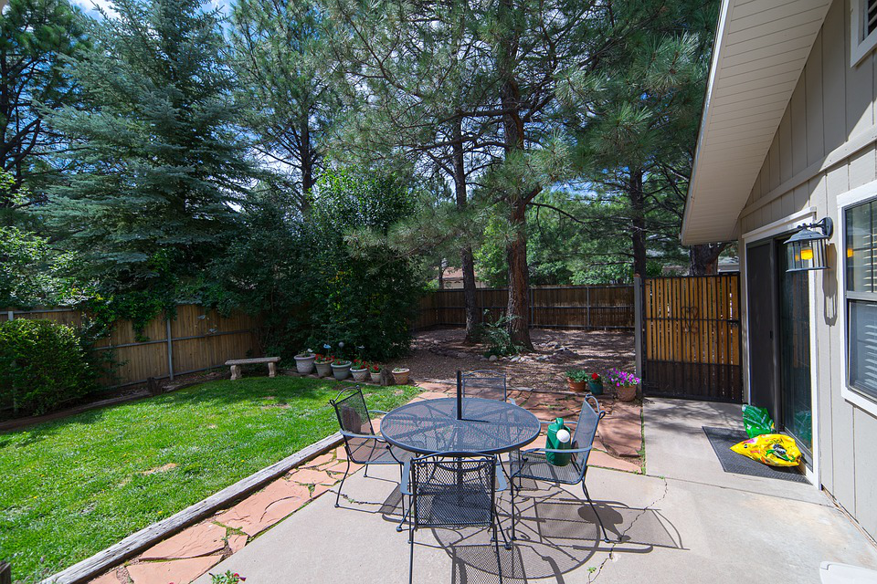 A clean backyard after professional junk removal