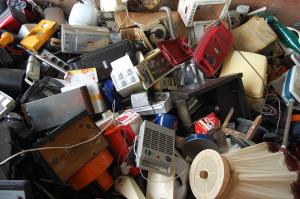 Piled up E-waste