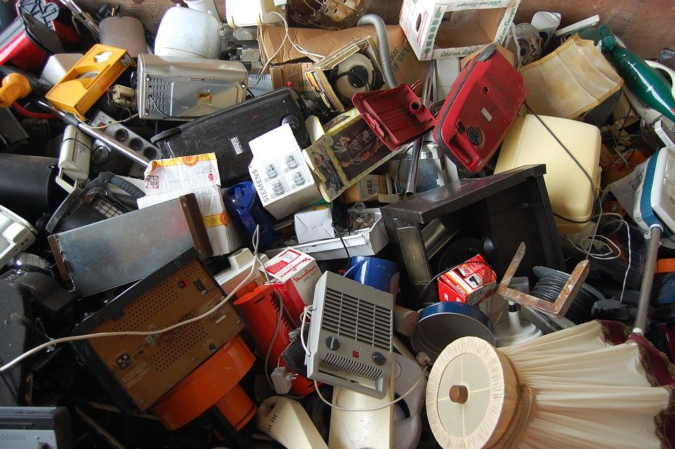 Piled up E-waste