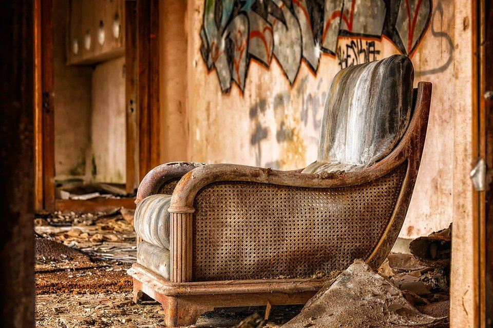 Old and abandoned chair