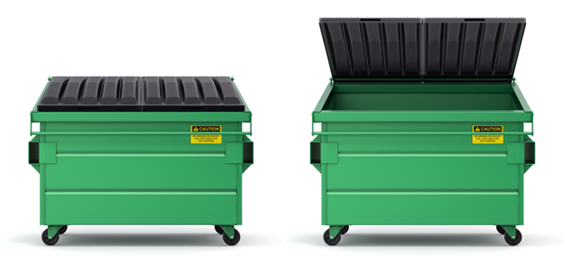 two dumpsters